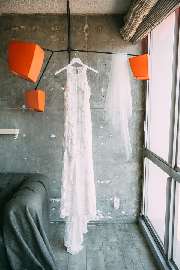 Wedding dress photographed by Bright Bird Wedding Photography