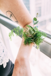 Bracelet of leaves photographed by Bright Bird Wedding Photography