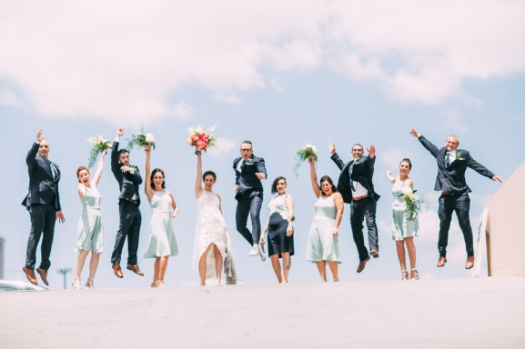 Wedding party photographed by Bright Bird Wedding Photography