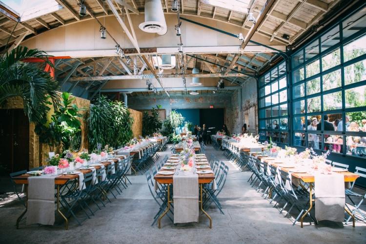 Wedding reception hall photographed by Bright Bird Wedding Photography