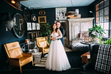 bride-and-groom-in-vintage-shop