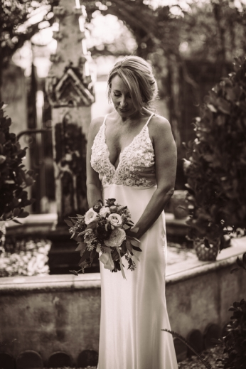 bride-outside-in-sepia-photography