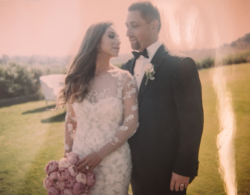 film-photograph-of-bride-and-groom