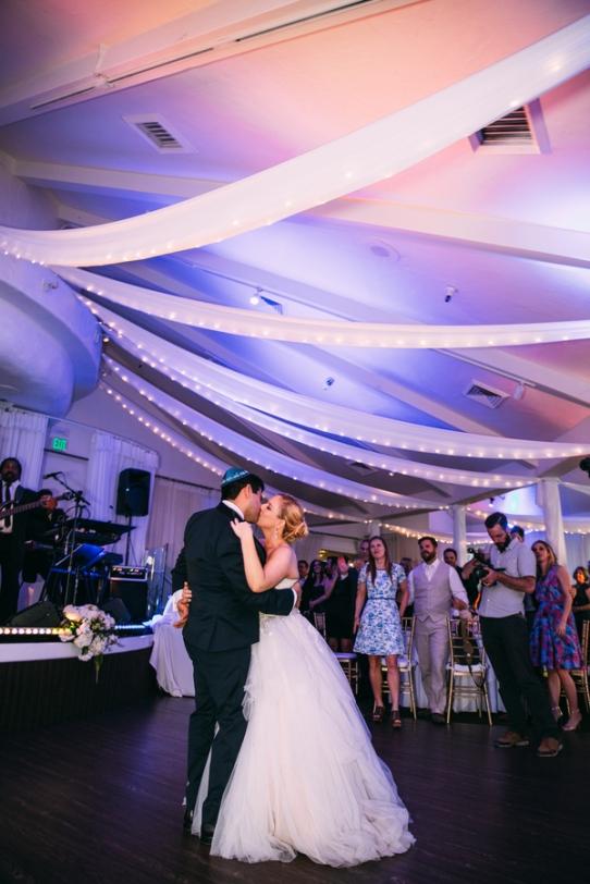 Jewish-bride-and-groom-on-dance-floor