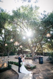 bride-and-groom-under-tree-with-hanging-lights