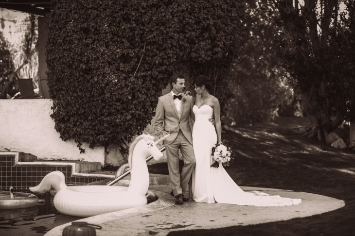 bride-and-groom-by-swimming-pool