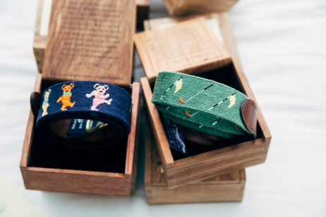 cloths-belts-in-wooden-box