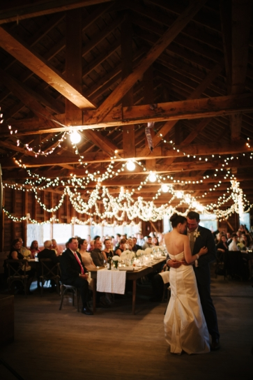 bride-and-groom-first-dance-barn-reception