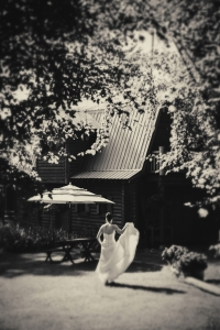 bride-outside-barn